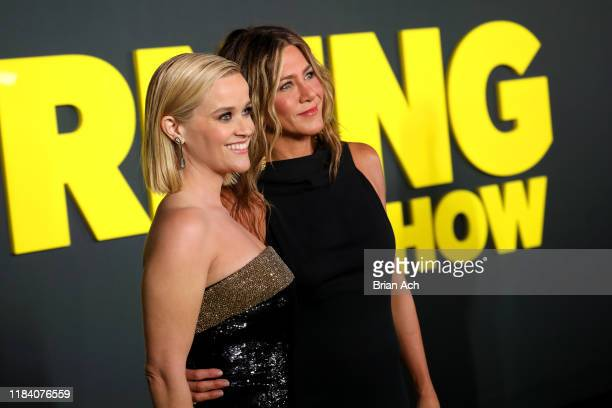 Reese Witherspoon and Jennifer Aniston attend Apple's global premiere of The Morning Show at Josie Robertson Plaza and David Geffen Hall Lincoln...