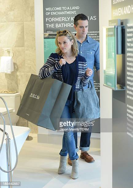 Reese Witherspoon and Jim Toth are seen at Pirch in Glendale Galleria on October 20, 2013 in Glendale, California.