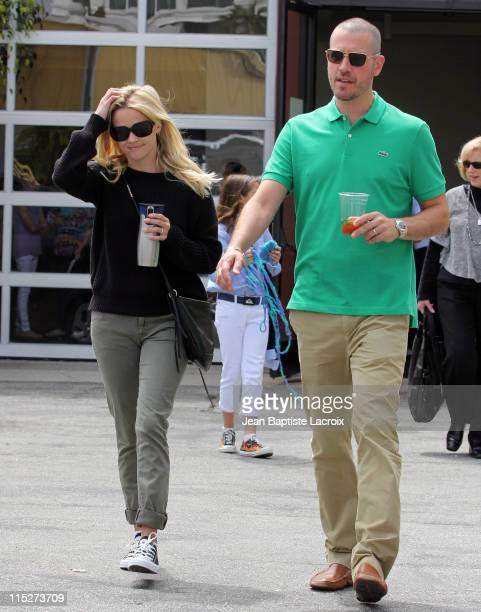 Reese Witherspoon and Jim Toth are seen in Santa Monica on June 5 2011 in Los Angeles California