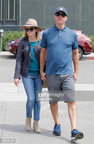 Reese Witherspoon and Jim Toth are seen on April 18, 2014 in Los Angeles, California.
