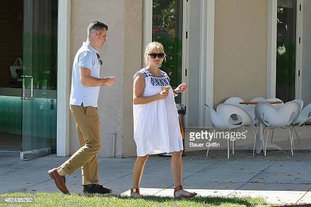 Reese Witherspoon and Jim Toth are seen on August 07, 2012 in Brentwood, California.