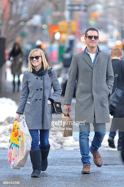 Reese Witherspoon and Jim Toth are seen on February 14, 2014 in New York City.