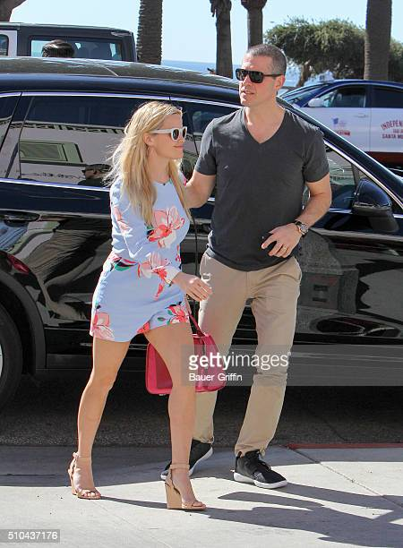 Reese Witherspoon and Jim Toth are seen on February 15, 2016 in Los Angeles, California.