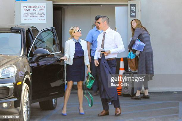Reese Witherspoon and Jim Toth are seen on February 24, 2016 in Los Angeles, California.