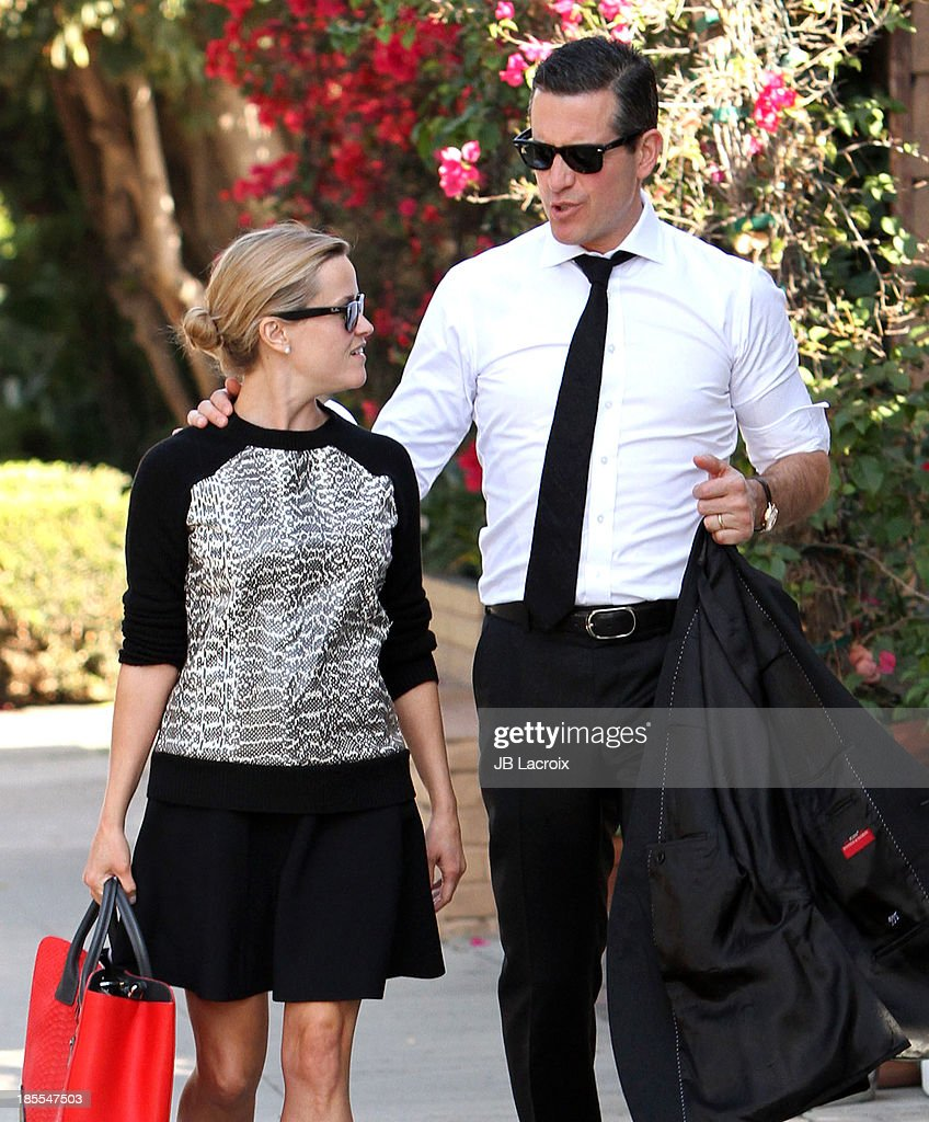 Reese Witherspoon and Jim Toth are seen on October 21, 2013 in Los Angeles, California.