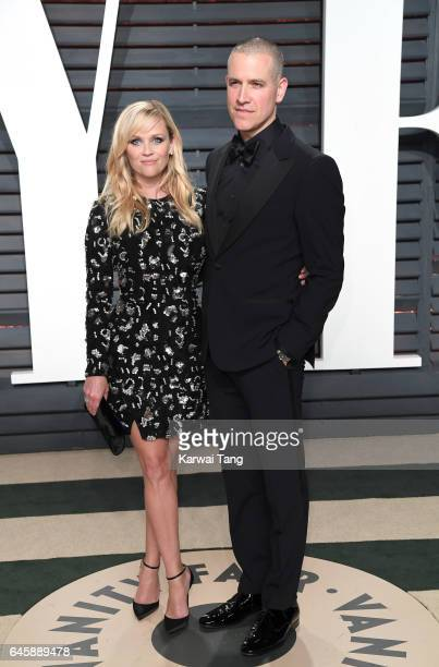 Reese Witherspoon and Jim Toth arrive for the Vanity Fair Oscar Party hosted by Graydon Carter at the Wallis Annenberg Center for the Performing Arts...