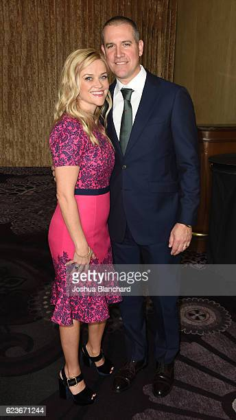 Reese Witherspoon and Jim Toth attend Girls Inc. Los Angeles Celebration Luncheon at The Beverly Hilton Hotel on November 16, 2016 in Beverly Hills,...