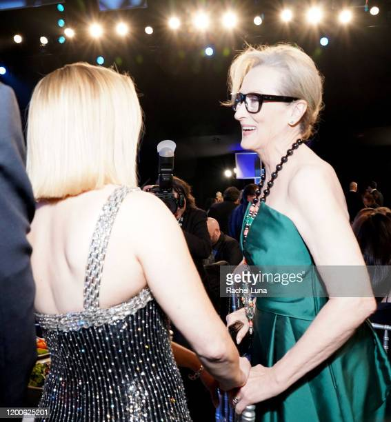 Reese Witherspoon and Meryl Streep attend the 26th Annual Screen ActorsGuild Awards at The Shrine Auditorium on January 19 2020 in Los Angeles...