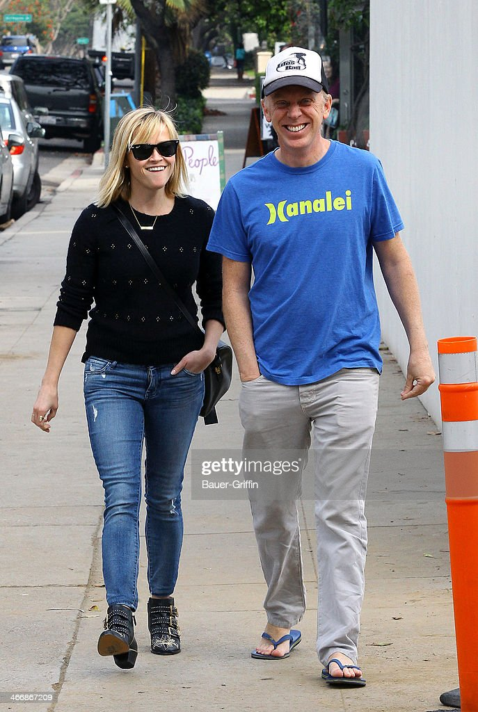 Reese Witherspoon and Mike White seen on February 04, 2014 in Los Angeles, California.