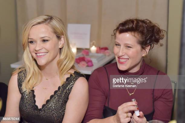 Reese Witherspoon and Molly R Stern attend Molly R Stern X Sarah Chloe Jewelry Collaboration Launch Dinner on December 4 2017 in West Hollywood...