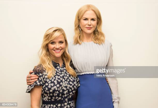 Reese Witherspoon and Nicole Kidman at the 'Big Little Lies' Press Conference at the Four Seasons Hotel on February 7 2017 in Beverly Hills California