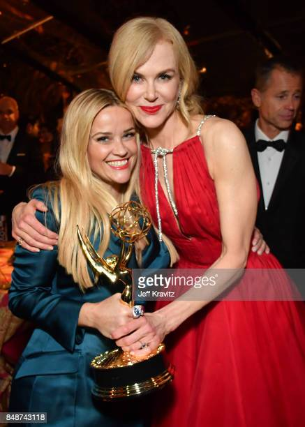 Reese Witherspoon and Nicole Kidman at the HBO's Official 2017 Emmy After Party at The Plaza at the Pacific Design Center on September 17 2017 in Los...