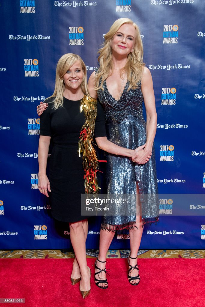Reese Witherspoon and Nicole Kidman attend the 2017 IFP Gotham Awards at Cipriani Wall Street on November 27, 2017 in New York City.