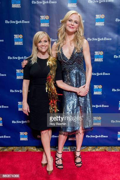 Reese Witherspoon and Nicole Kidman attend the 2017 IFP Gotham Awards at Cipriani Wall Street on November 27 2017 in New York City