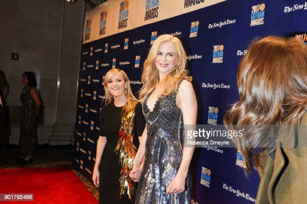 Reese Witherspoon and Nicole Kidman on the red carpet at the 2017 IFP Gotham Awards at Cipriani Wall Street on November 27 2017 in New York NY
