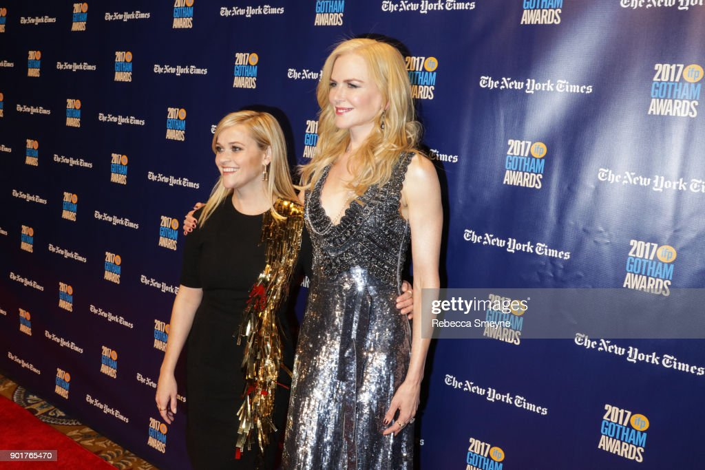 Reese Witherspoon (L) and Nicole Kidman on the red carpet at the 2017 IFP Gotham Awards at Cipriani Wall Street on November 27, 2017 in New York, NY.