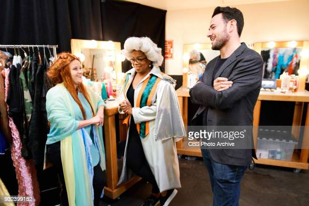 Reese Witherspoon and Oprah Winfrey chat with Ben Winston during The Late Late Show with James Corden Monday March 12 2018 On The CBS Television...