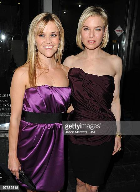 Reese Witherspoon and Renee Zellweger attend the Vera Wang Store Launch at Vera Wang Store on March 2 2010 in Los Angeles California
