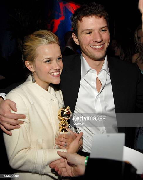 Reese Witherspoon and Ryan Phillippe during InStyle & Warner Bros. 2006 Golden Globes After Party - Inside at Beverly Hilton in Beverly Hills,...
