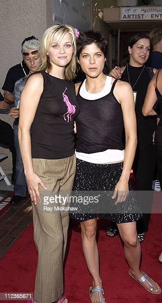 Reese Witherspoon and Selma Blair during The 2002 Teen Choice Awards Seventeen Magazine Backstage at Universal Amphitheater in Universal City...
