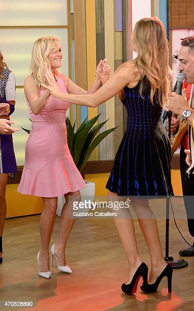 """Reese Witherspoon and Sofia Vergara on The Set Of """"Despierta America"""" to promote the film """"Hot Pursuit"""" at Univision Studios on April 21, 2015 in..."""