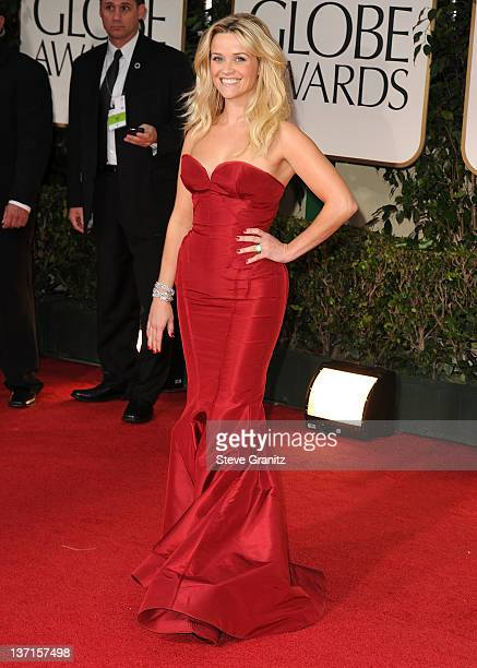 Reese Witherspoon arrives at the 69th Annual Golden Globe Awards at The Beverly Hilton hotel on January 15 2012 in Beverly Hills California