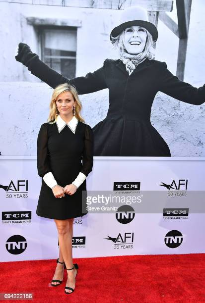 Reese Witherspoon arrives at the AFI Life Achievement Award Gala Tribute To Diane Keaton on June 8 2017 in Hollywood California