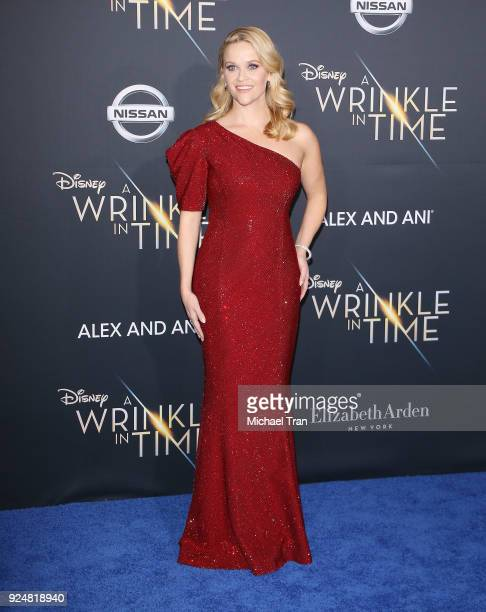 Reese Witherspoon arrives at the Los Angeles premiere of Disney's 'A Wrinkle In Time' held at El Capitan Theatre on February 26 2018 in Los Angeles...