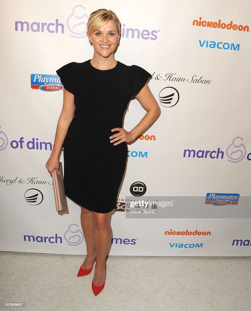 Reese Witherspoon arrives at the March Of Dimes' Celebration Of Babies at Beverly Hills Hotel on December 7, 2012 in Beverly Hills, California.