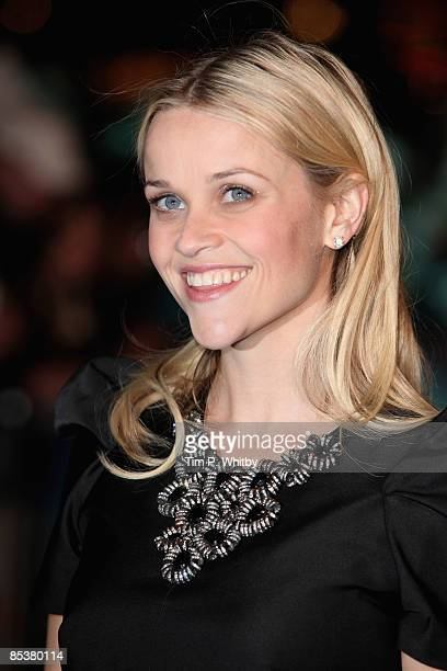 Reese Witherspoon arrives for the UK Premiere of Monster Vs Aliens at the Vue West End Cinema on March 11 2009 in London England