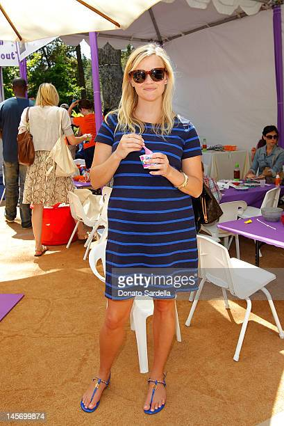 Reese Witherspoon attends 6th Annual Kidstock Music And Arts Festival Sponsored By Hudson Jeans at Greystone Mansion on June 3 2012 in Beverly Hills...