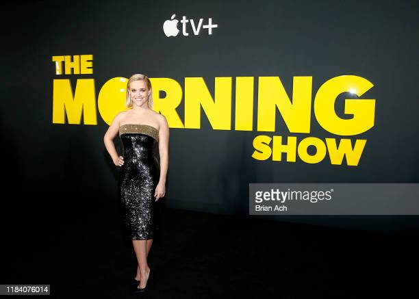 Reese Witherspoon attends Apple's global premiere of The Morning Show at Josie Robertson Plaza and David Geffen Hall Lincoln Center for the...
