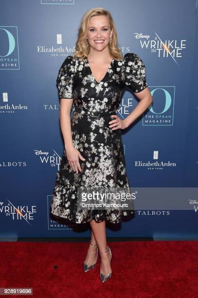 Reese Witherspoon attends as O The Oprah Magazine hosts special NYC screening of A Wrinkle In Time at Walter Reade Theater at Walter Reade Theater on...