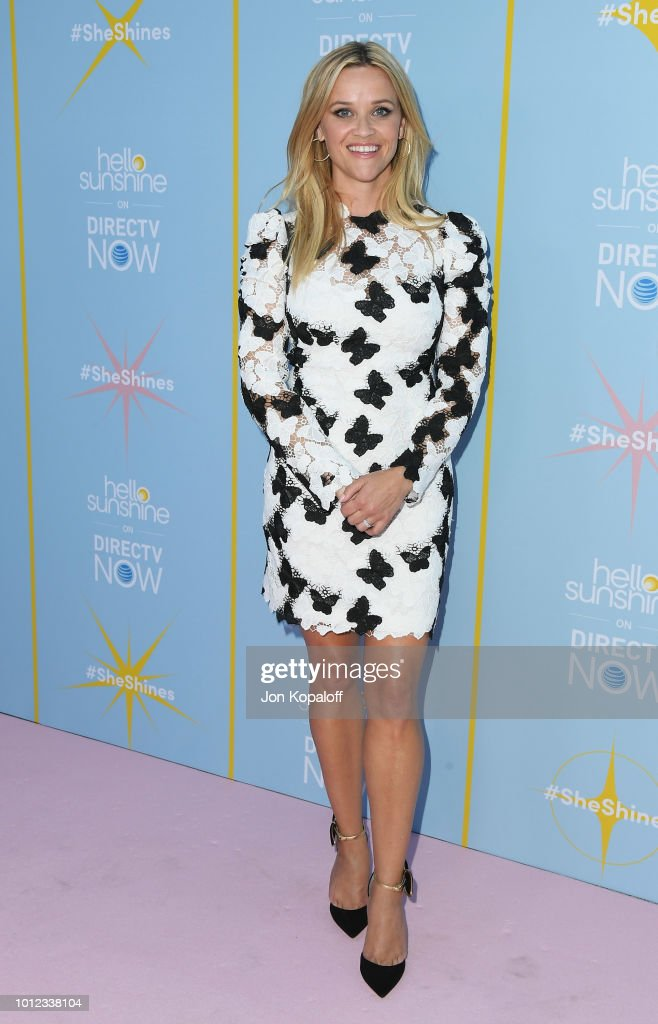 Reese Witherspoon attends AT&T & Hello Sunshine Celebrate The Launch Of 'Shine On With Reese' at NeueHouse Hollywood on August 6, 2018 in Los Angeles, California.