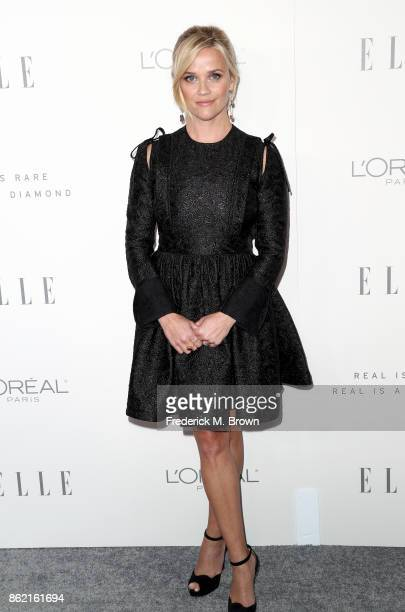 Reese Witherspoon attends ELLE's 24th Annual Women in Hollywood Celebration at Four Seasons Hotel Los Angeles at Beverly Hills on October 16 2017 in...