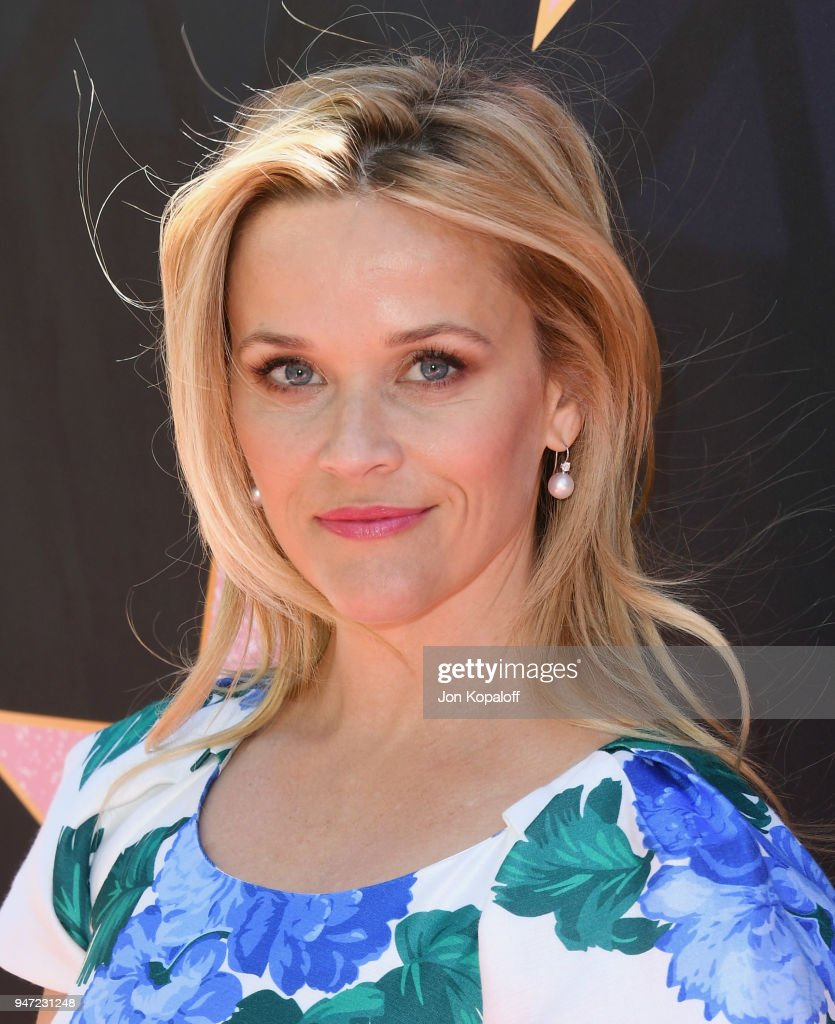 Reese Witherspoon attends Eva Longoria's Hollywood Star Ceremony Post-Luncheon on April 16, 2018 in Beverly Hills, California.