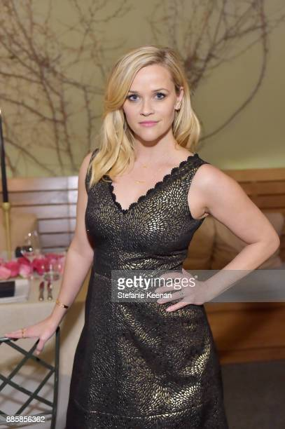 Reese Witherspoon attends Molly R. Stern X Sarah Chloe Jewelry Collaboration Launch Dinner on December 4, 2017 in West Hollywood, California.