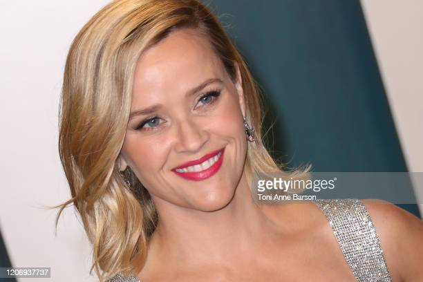 Reese Witherspoon attends the 2020 Vanity Fair Oscar Party at Wallis Annenberg Center for the Performing Arts on February 09, 2020 in Beverly Hills,...