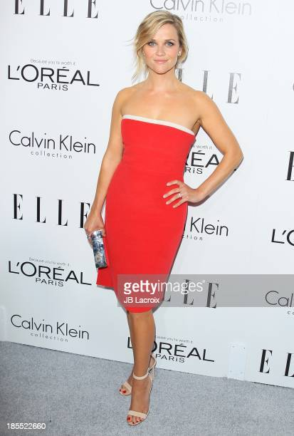 Reese Witherspoon attends the 20th Annual ELLE Women In Hollywood held at Four Seasons Hotel Los Angeles at Beverly Hills on October 21 2013 in...