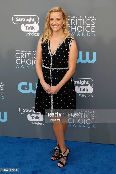 Reese Witherspoon attends the 23rd Annual Critics' Choice Awards at Barker Hangar on January 11 2018 in Santa Monica California