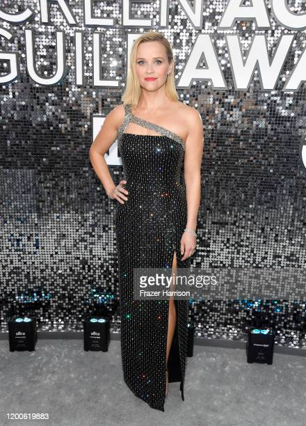 Reese Witherspoon attends the 26th Annual Screen ActorsGuild Awards at The Shrine Auditorium on January 19 2020 in Los Angeles California