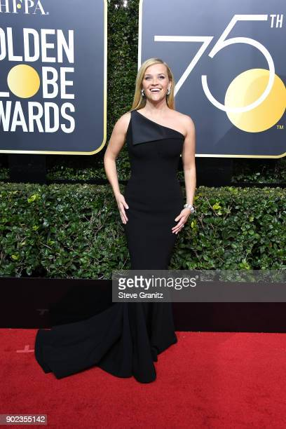 Reese Witherspoon attends The 75th Annual Golden Globe Awards at The Beverly Hilton Hotel on January 7 2018 in Beverly Hills California