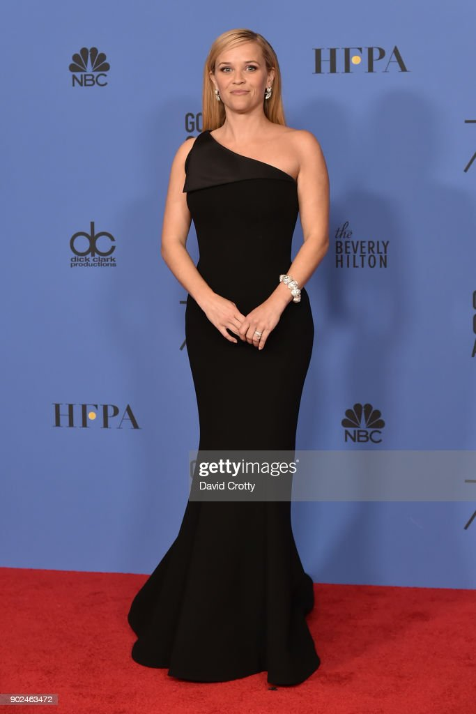 Reese Witherspoon attends the 75th Annual Golden Globe Awards - Press Room at The Beverly Hilton Hotel on January 7, 2018 in Beverly Hills, California.