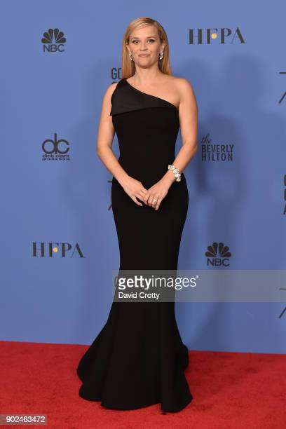 Reese Witherspoon attends the 75th Annual Golden Globe Awards Press Room at The Beverly Hilton Hotel on January 7 2018 in Beverly Hills California