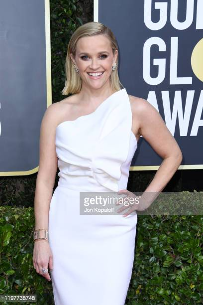Reese Witherspoon attends the 77th Annual Golden Globe Awards at The Beverly Hilton Hotel on January 05, 2020 in Beverly Hills, California.
