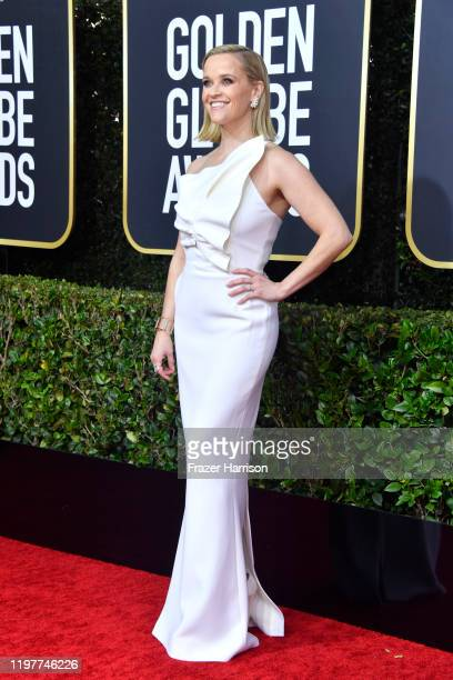 Reese Witherspoon attends the 77th Annual Golden Globe Awards at The Beverly Hilton Hotel on January 05 2020 in Beverly Hills California