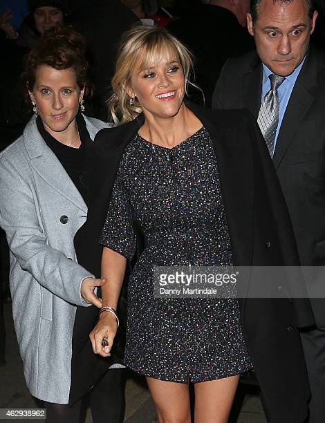 Reese Witherspoon attends the Charles Finch CHANEL PreBAFTA party at Annabel's on February 7 2015 in London England