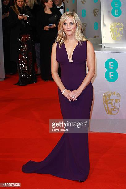 Reese Witherspoon attends the EE British Academy Film Awards at The Royal Opera House on February 8 2015 in London England