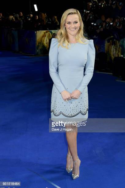 Reese Witherspoon attends the European Premiere of 'A Wrinkle In Time' at BFI IMAX on March 13 2018 in London England