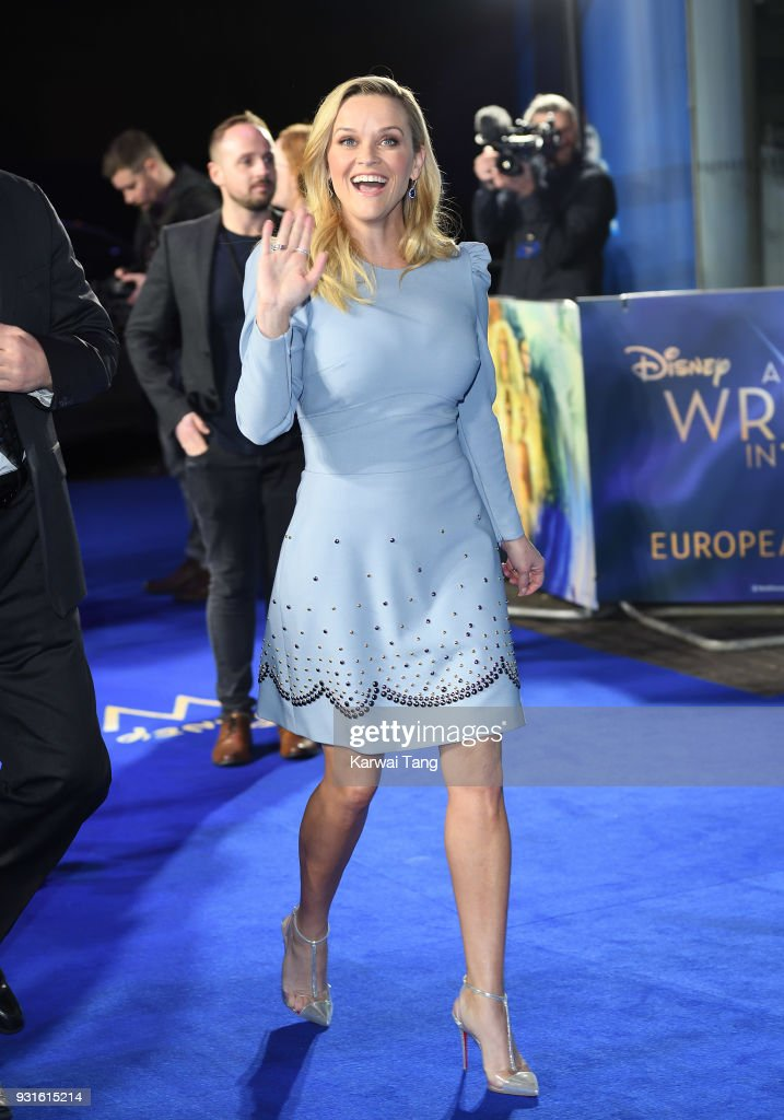 Reese Witherspoon attends the European Premiere of 'A Wrinkle In Time' at BFI IMAX on March 13, 2018 in London, England.